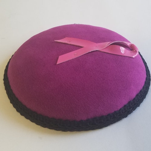 Fascinator Hat, Pink Ribbon