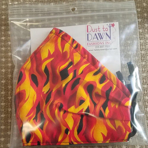 Face Mask (Flame Print)