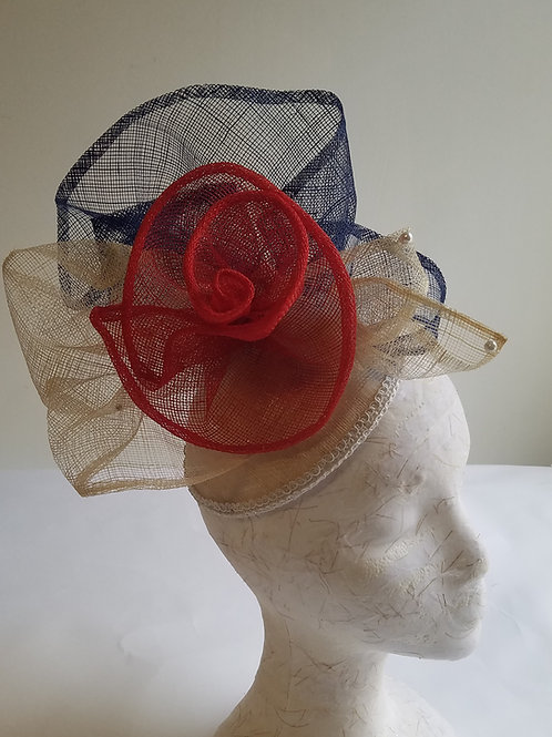 Fascinator Hat, (#Flwr-dome-3)
