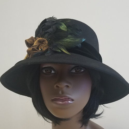 Women's Wool Wide Brim Hat