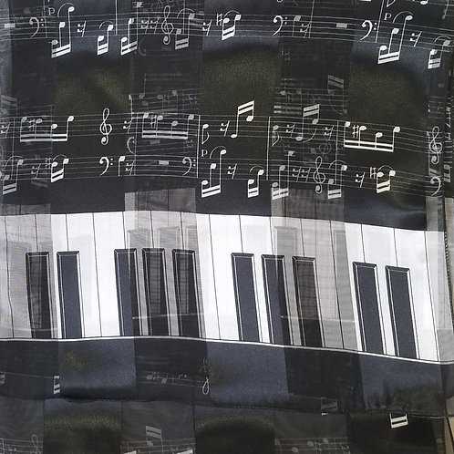 Scarfs (Musical Notes & Piano Keys)