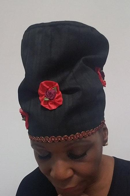 Hair Covering, Crown Diva Hat (Flowers)