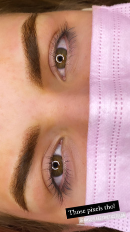 pixelated brows