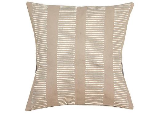 Hand-printed Cushion - Tribal Cloth Mushroom - Lines