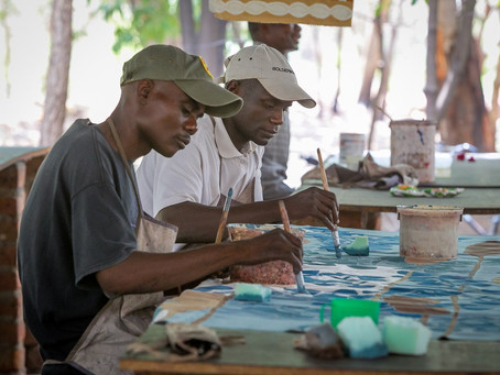 How our textiles are hand-printed in Zambia