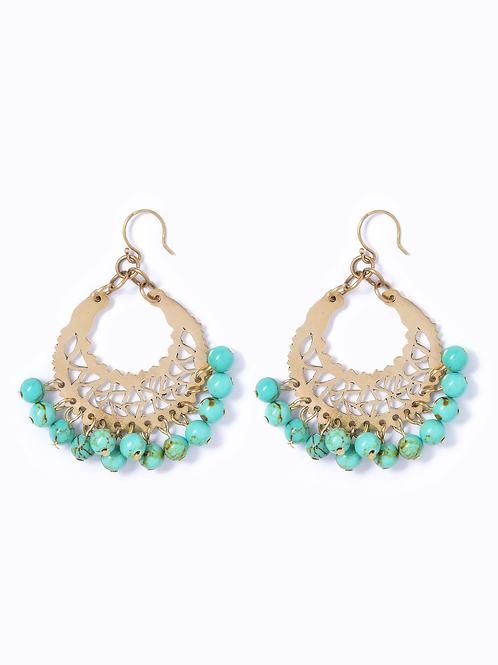 Marrakech Earrings Aqua