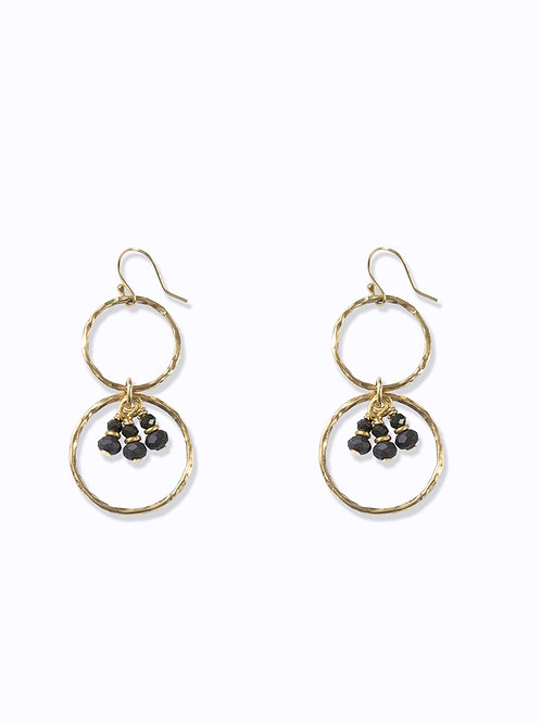 Ibo Earrings Charcoal