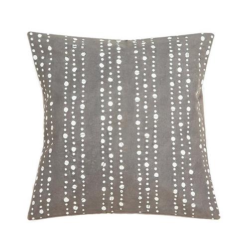 Hand-printed Cushion - Tribal Cloth Mushroom - Graduated Dots