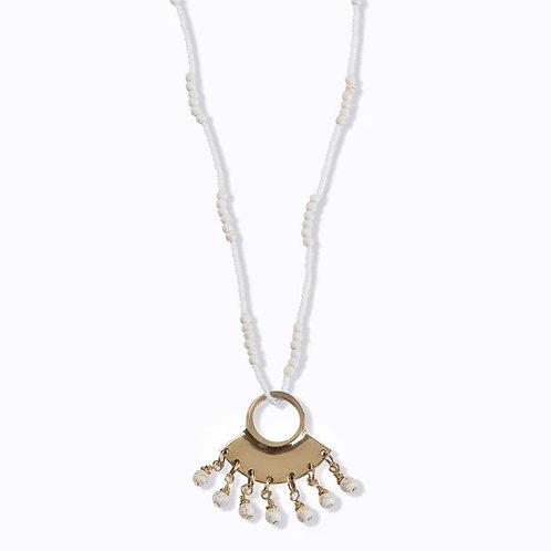 Baby Maasai Beaded Necklace - Ivory hues