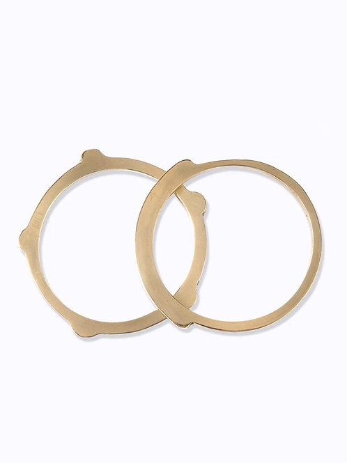 Shela Bangle Studed Design - Brass