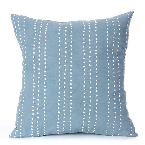 Hand-printed Cushion - Tribal Cloth Indigo - Dot