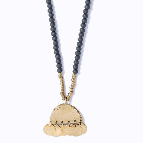 Swahili Sahara Wooden Necklace :: Ebony hues