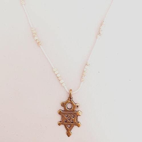 Maasai Coptic Bead Necklace :: Ivory Hues