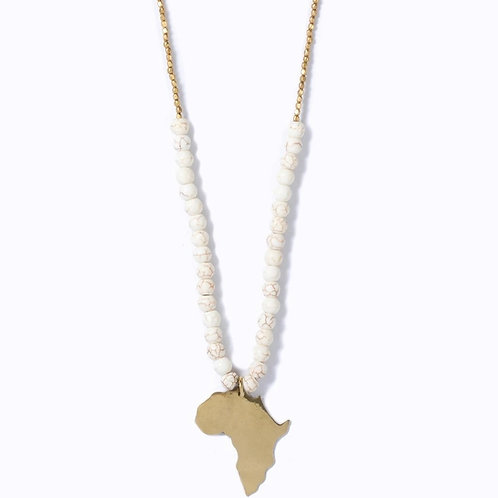 Swahili Africa Beaded Necklace :: Ivory Hues