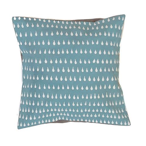 Hand-printed Cushion - Boho Raindrops