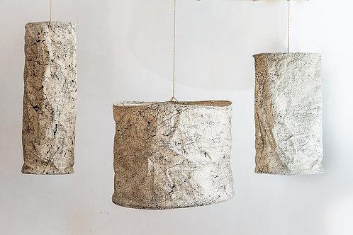 Hand-printed Lampshade - Raw Crackles