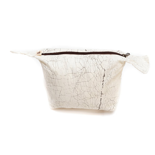 Zambia Hand-printed Washbag Raw Crackles - one size