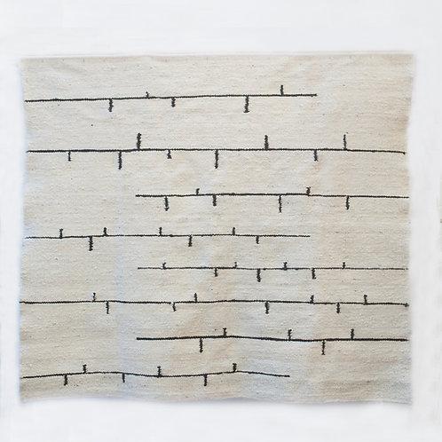 Bird on Wire rug - Pure White