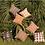 Thumbnail: Hand-printed Cushion - Tribal Cloth Mushroom - Line Wave