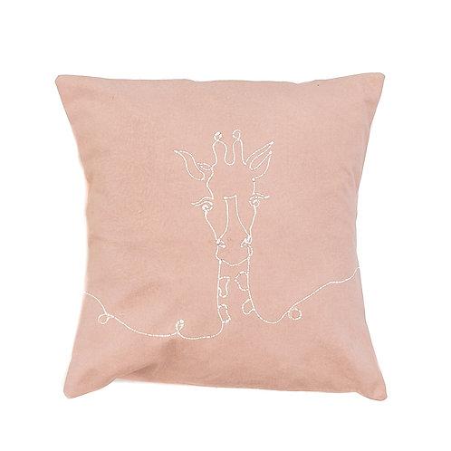Hand-printed Cushion - Wild Lines Giraffe