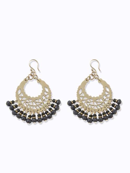 Marrakech Earrings Charcoal