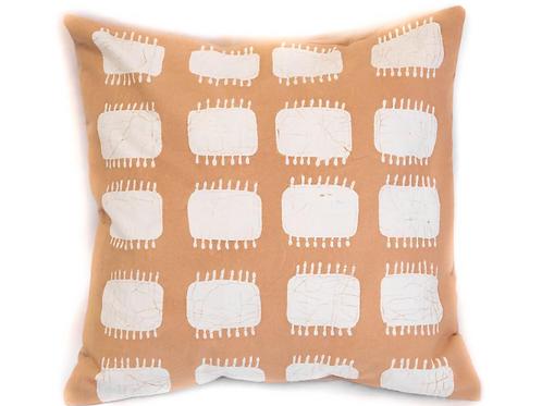 Hand-printed Cushion - Tribal Cloth Mushroom - Spike