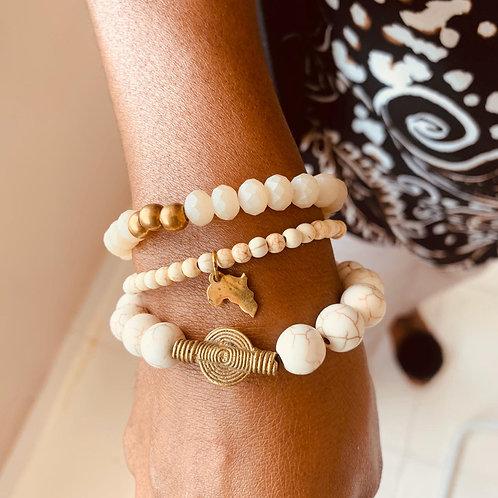 Juju Bracelets - set of 3 - IVORY Hues