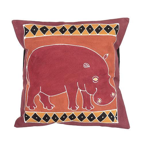 Hand-printed Cushion - Animals Bushways