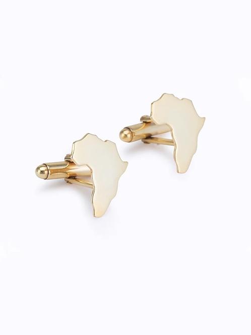 Mens Africa Cufflinks :: Gold plated