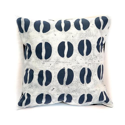 Hand-printed Cushion - Tribal Cloth Indigo - Hoof