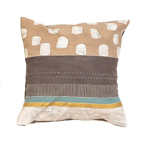 Hand-printed Cushion - Boho Multiprint