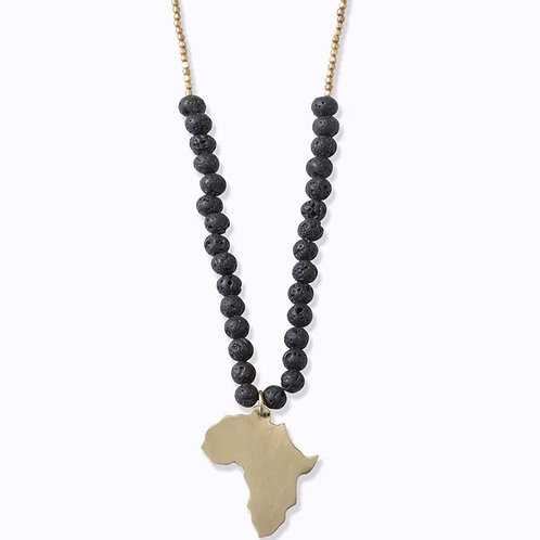 Swahili Africa Beaded Necklace :: Ebony Hues