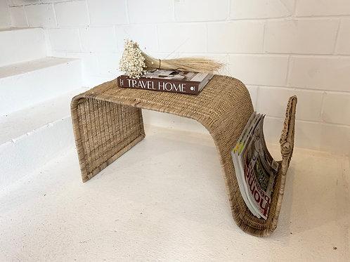 Malawi Wave Side Table / Magazine Rack