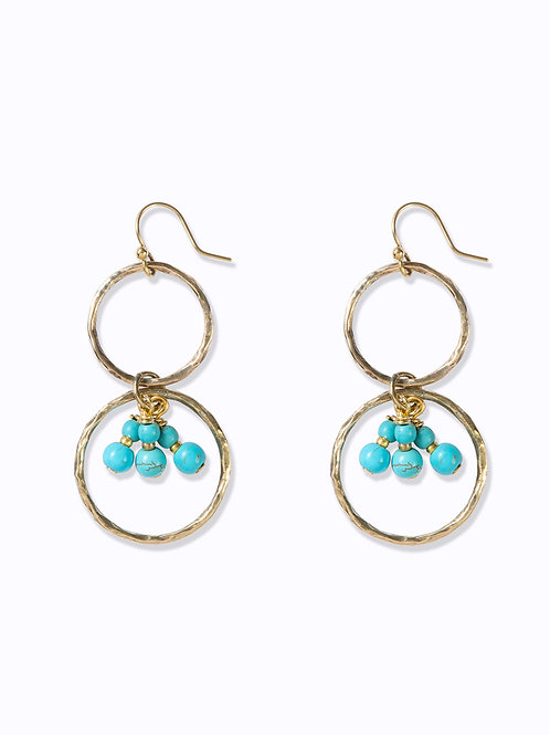 Ibo Earrings Aqua