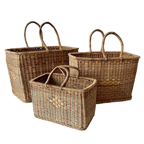 Malawi Classic Market Baskets - Set of 3 - Raw