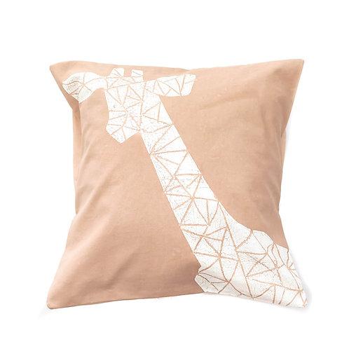 Hand-printed Cushion - Crackle Animals Giraffe