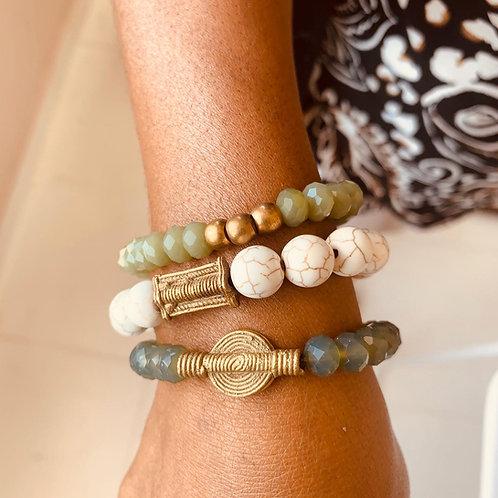 Juju Bracelets - set of 3 - Khaki Hues