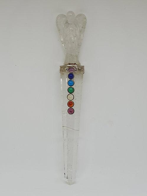 Clear quartz angel wand