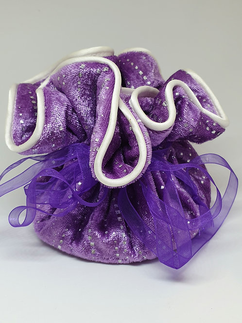 Crystal pouch with drawstring