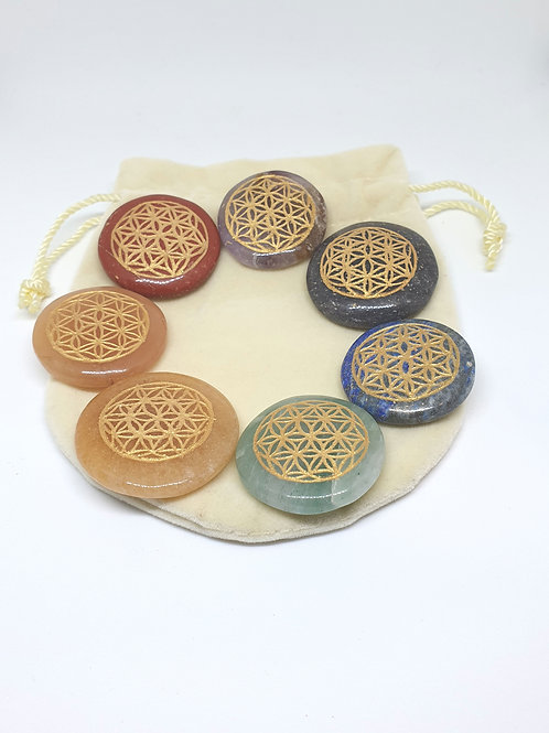 Flower of Life chakra set