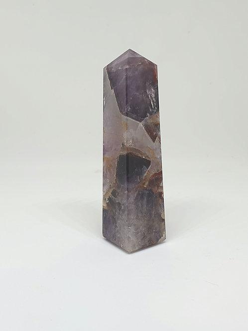 Chevron Amethyst Obelisk 8 cm