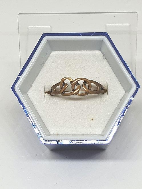Brass heart ring