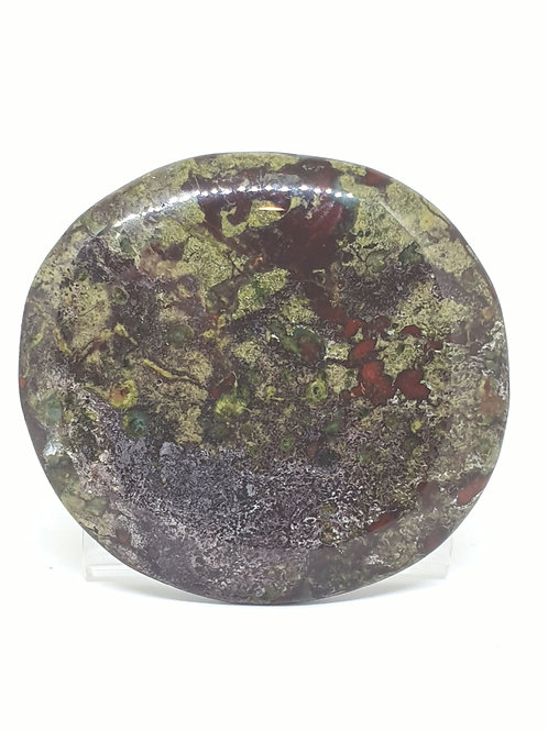 Dragon stone flat stone 6.5 cm x 5.5 cm