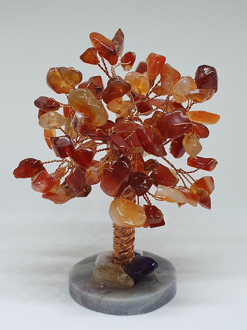 Carnelian crystal tree