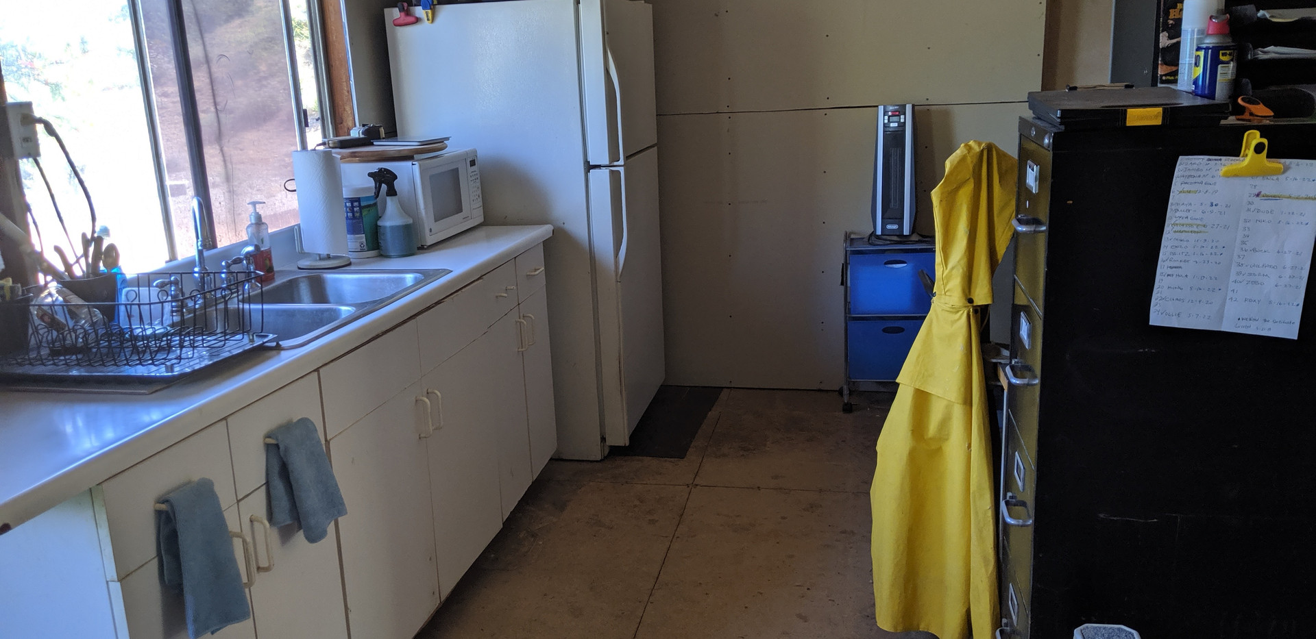 Main feed room kitchen