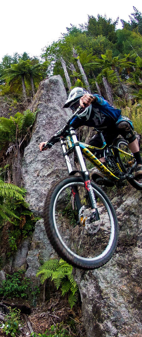 Riding in Rotorua - Boulderdash Trail