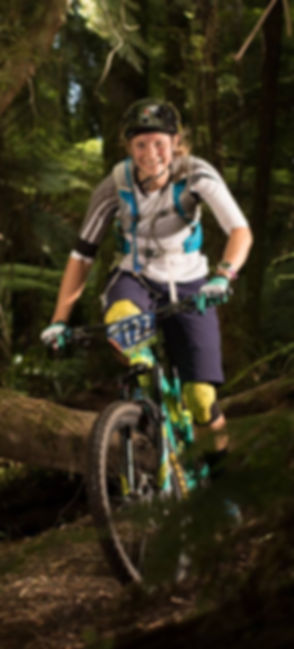 MTB Rotorua OG Katie Oneill racing on her Giant Reign
