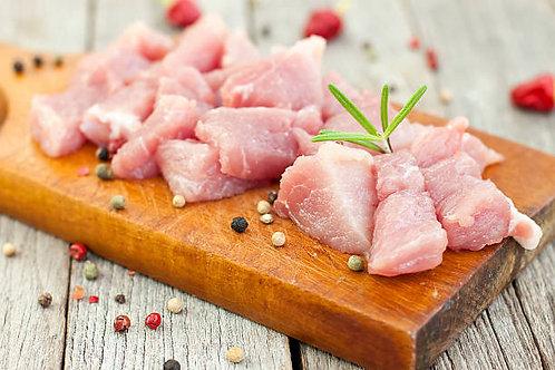 19. Sauté de Porc mariné à l'huile d'olive 400g ; 18€15/Kg