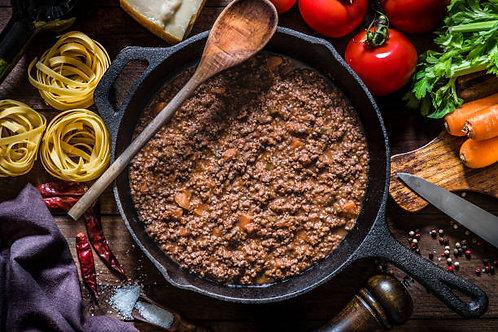 Bolognaise Cuisinée Maison en Barquette, 350g, 25€30/Kg