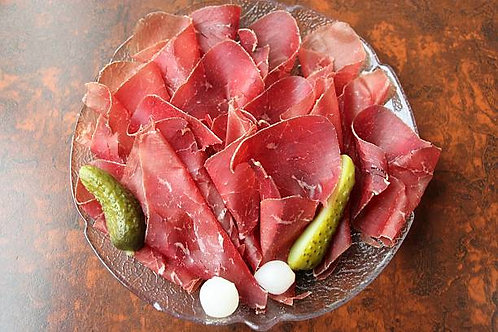 Viande des Grisons artisanal, la plaquette de 100g  60€/Kg